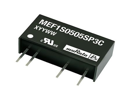 Murata Power Solutions MEF1 1W Isolated DC-DC Converter Through Hole, Voltage in 4.75 → 5.25 V dc, Voltage out