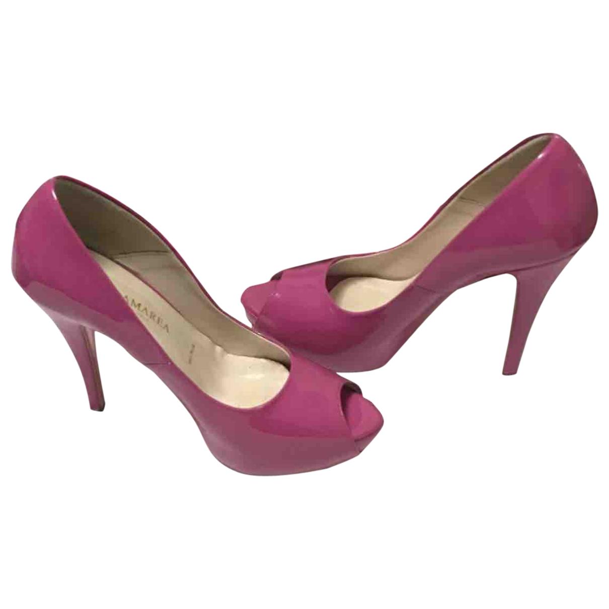 - Escarpins   pour femme en cuir - rose