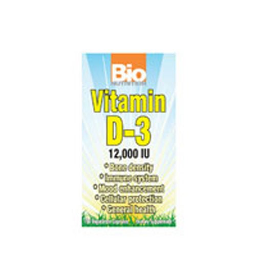 Vitamin D-3 12000IU 50 VEG CAPS by Bio Nutrition Inc