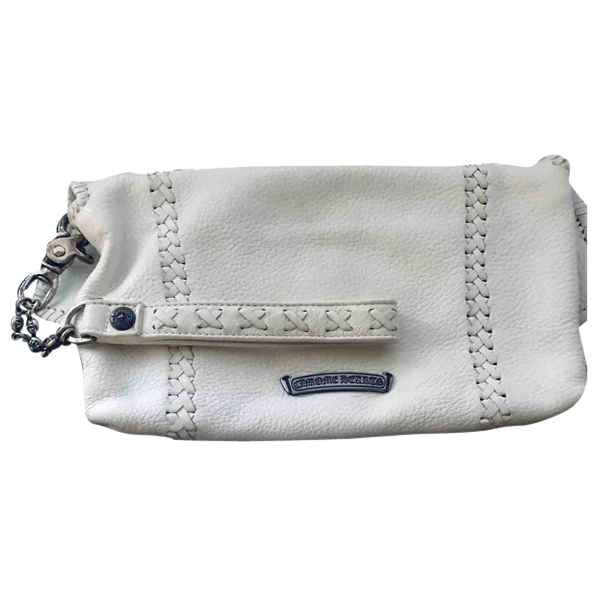 Chrome Hearts N White Leather Clutch bag for Women N