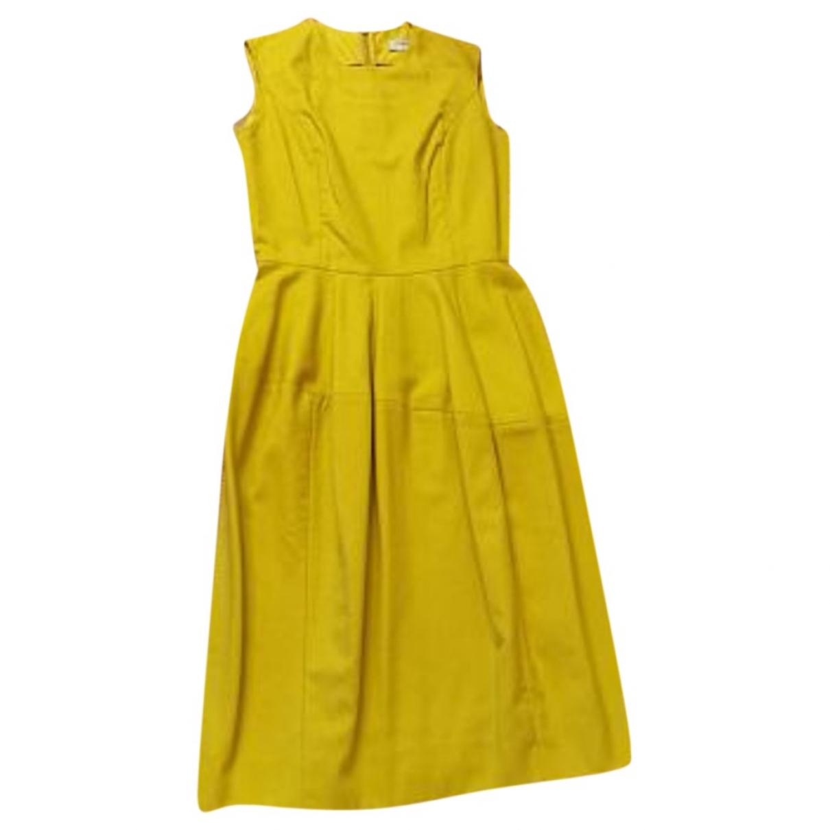 Yves Saint Laurent \N Yellow Wool dress for Women 38 FR