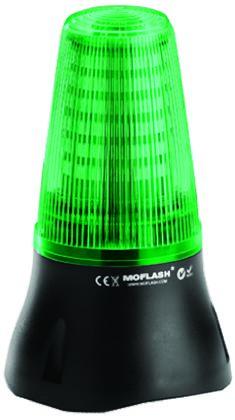 Moflash LEDD 125 Green LED Beacon, 115 V ac, , Multiple Effect, Surface Mount
