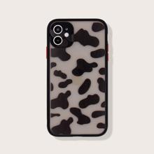 Funda de iphone con marco en contraste de leopardo