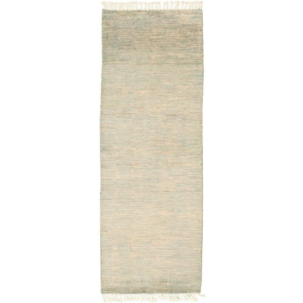 ECARPETGALLERY  Hand-knotted Pak Finest Gabbeh Blue  Wool Rug - 2'8 x 7'10 (Light Blue - 2'8 x 7'10)
