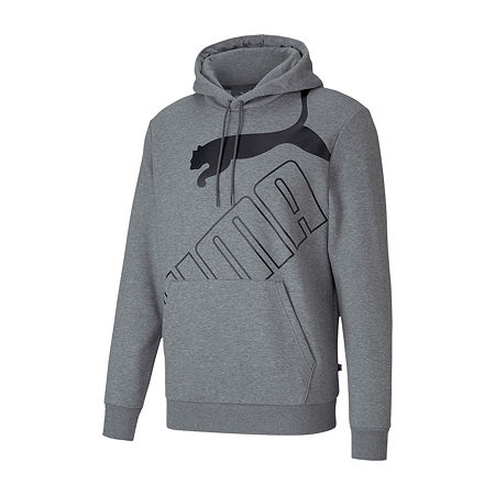 Puma-Big and Tall Mens Long Sleeve Hoodie, 4x-large , Gray