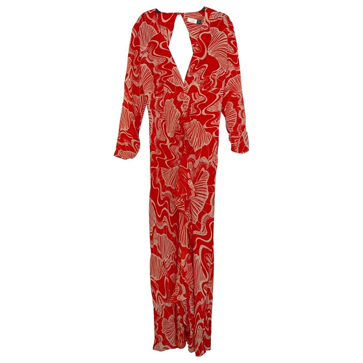 Rixo \N Kleid in  Rot Seide
