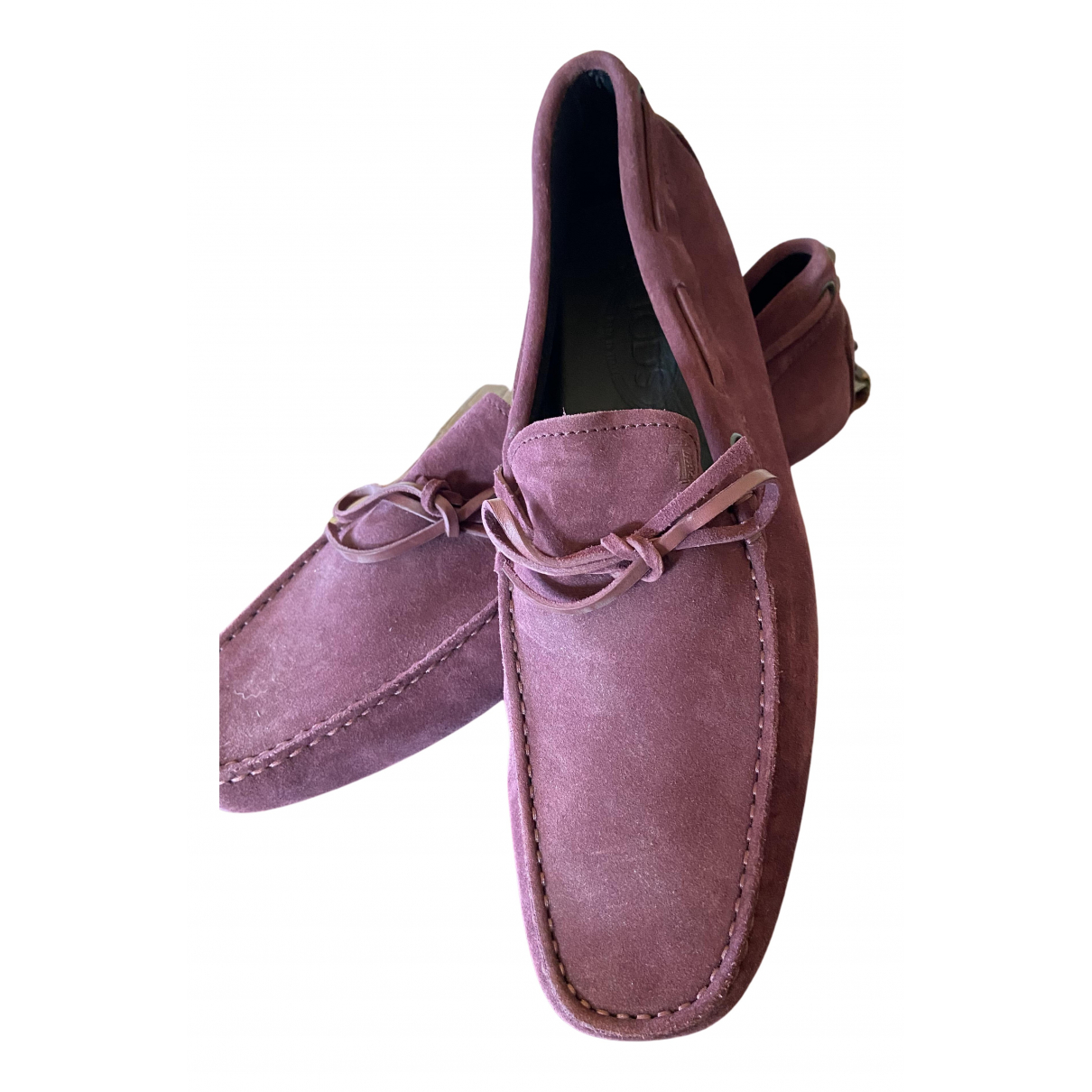 Tod's N Pink Suede Flats for Men 10 UK