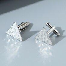 Men Geometric Design Cufflinks