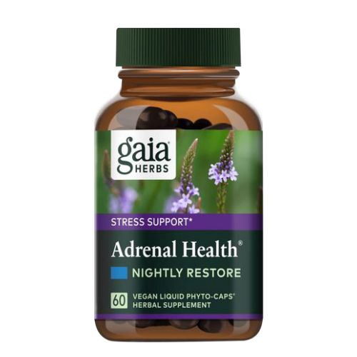 Adrenal Health Nightly Restore 120 Caps by Gaia Herbs