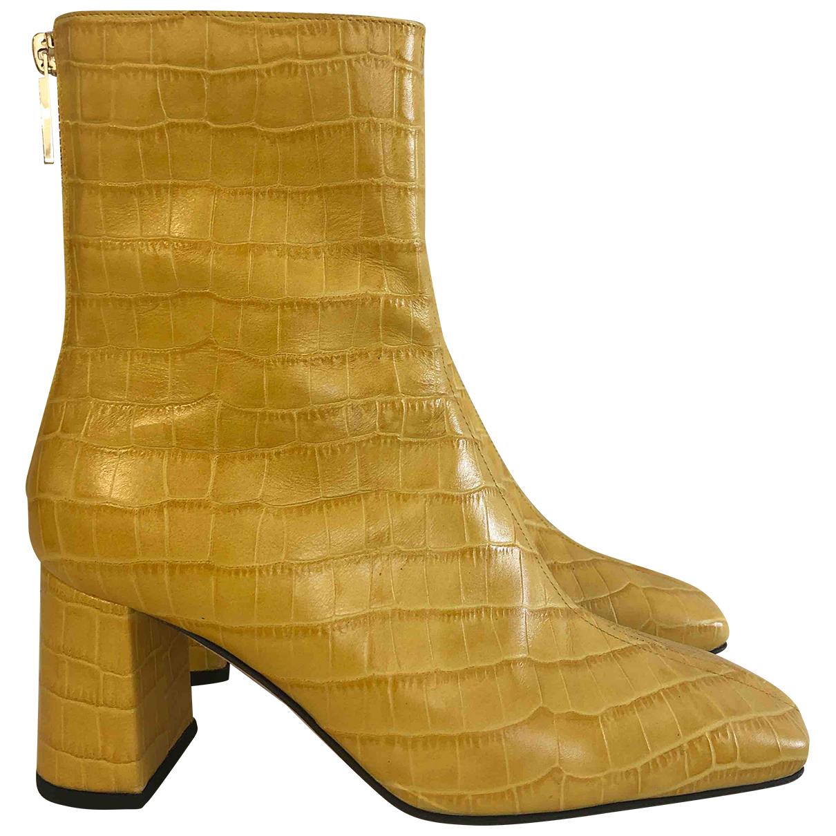 Dear Frances \N Stiefeletten in  Gelb Leder