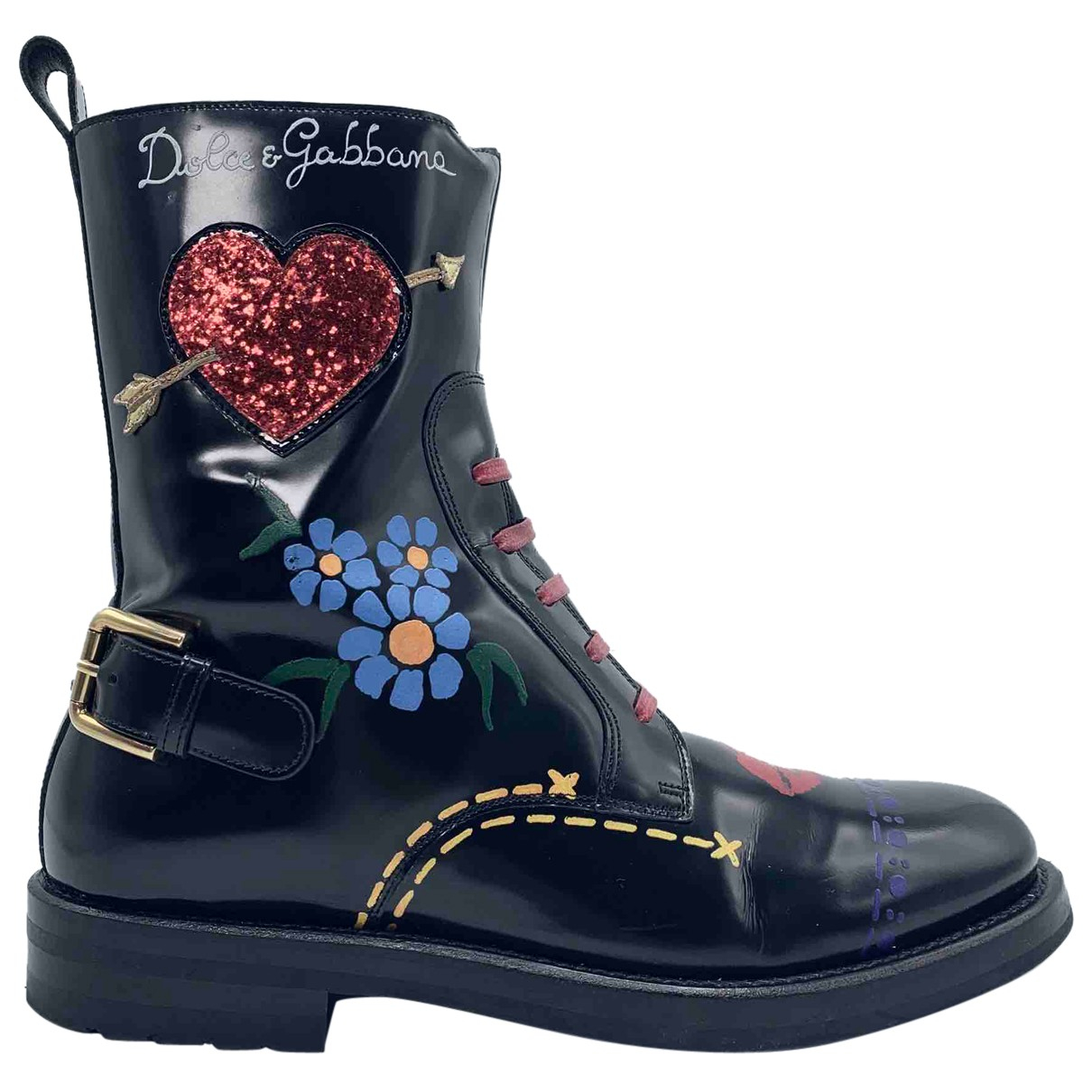 Dolce & Gabbana N Black Leather Ankle boots for Women 37 EU