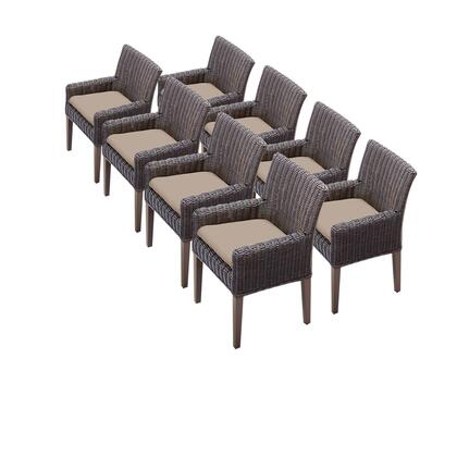 TKC099b-DC-4x-C 8 Venice Dining Chairs With Arms with 1 Cover in