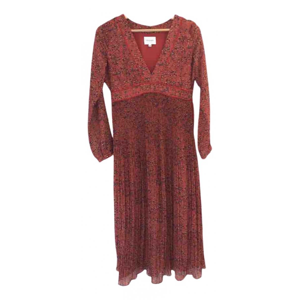 Sezane \N Kleid in  Rot Polyester