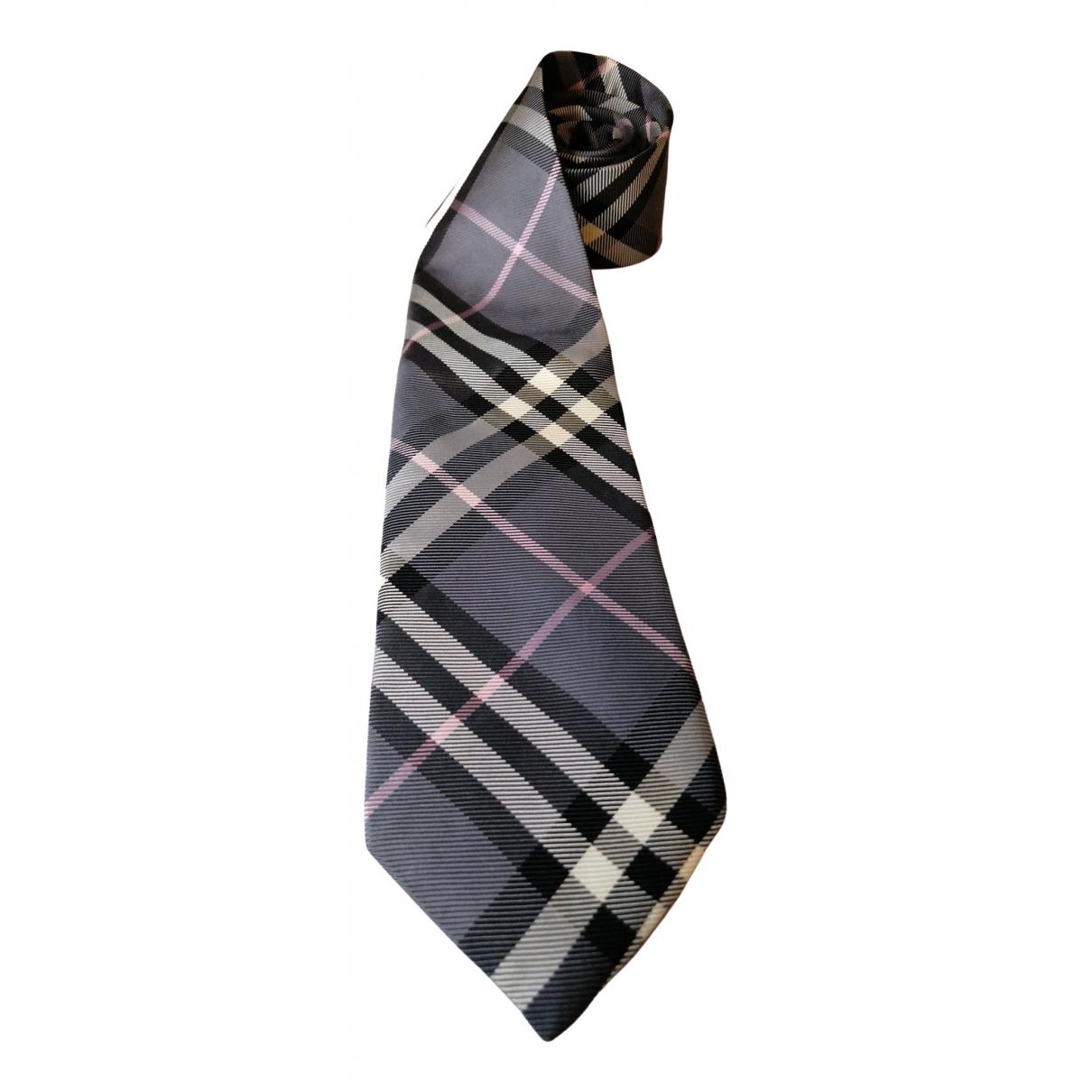Burberry \N Grey Silk Ties for Men \N