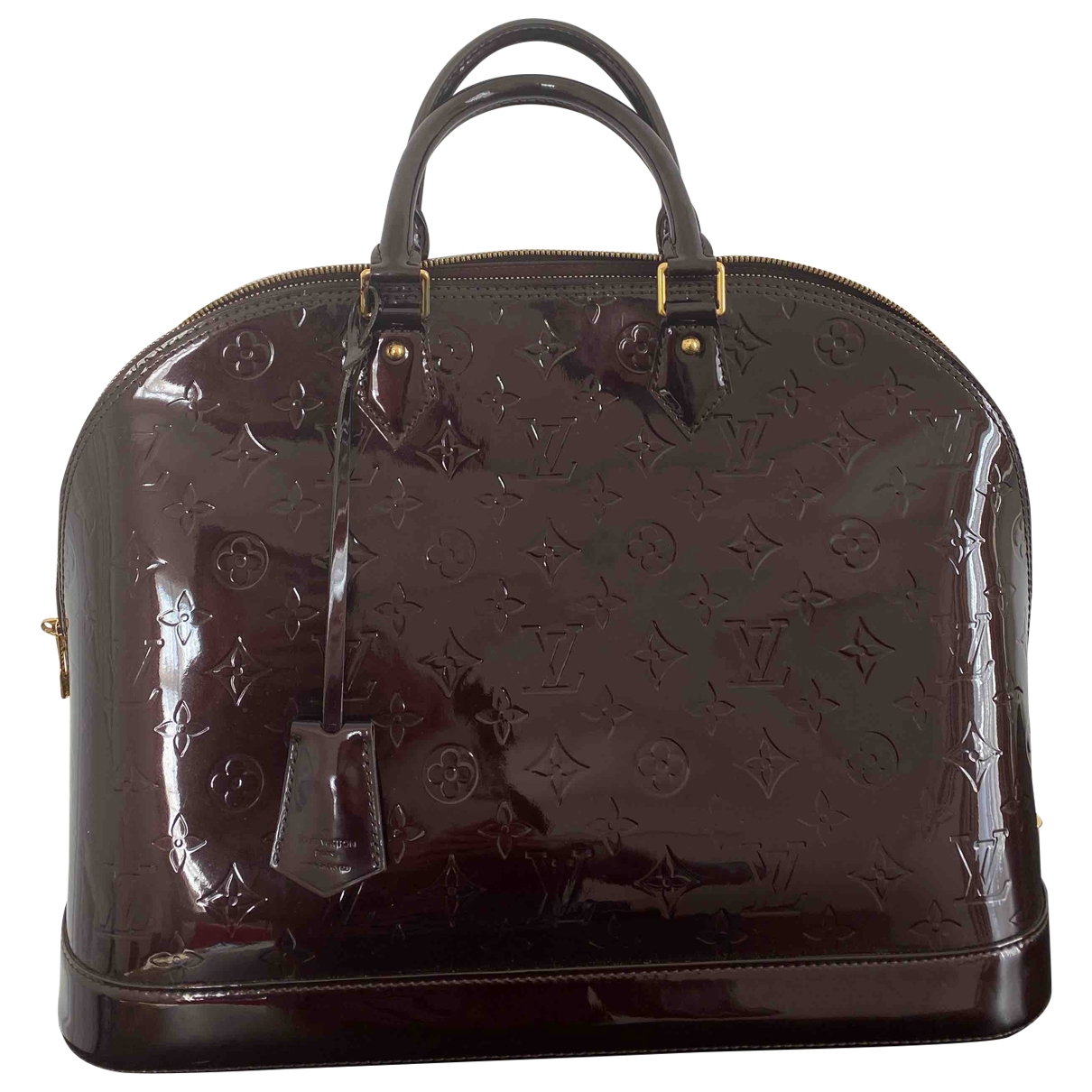 Louis Vuitton Alma BB Burgundy Patent leather handbag for Women \N