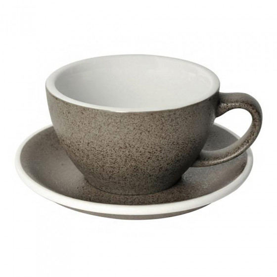 Cafe Latte Tasse mit Untertasse Loveramics Egg Granite, 300 ml