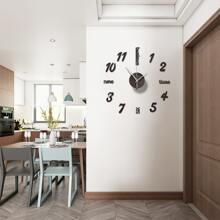 1set Mirror Surface Creative Wall Clock