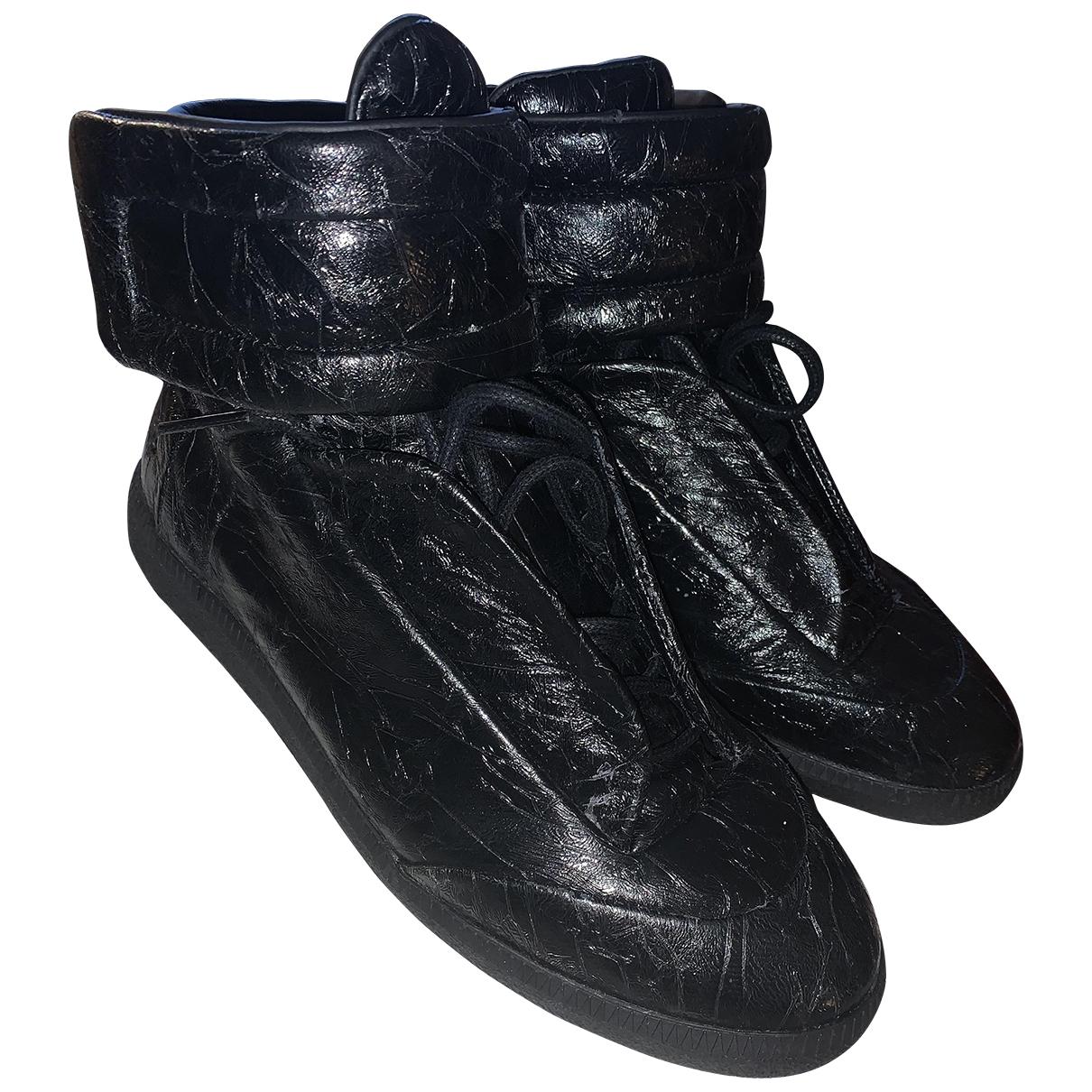 Maison Martin Margiela - Baskets Future pour homme en cuir verni - noir