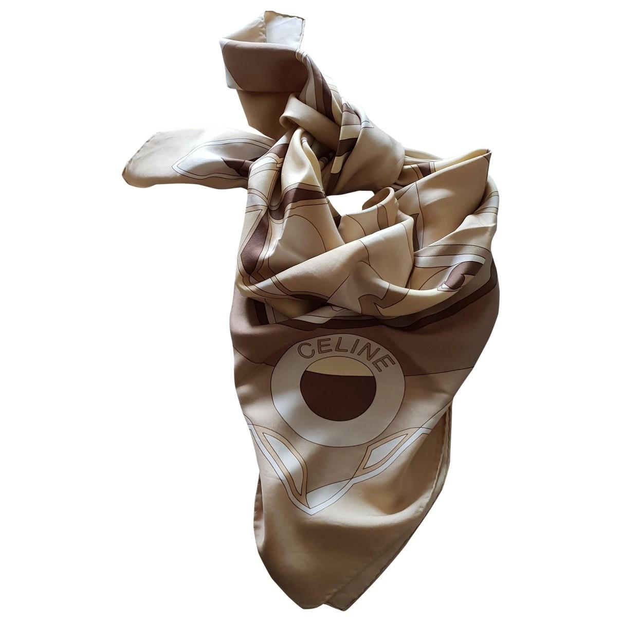 Celine \N Beige Silk scarf for Women \N