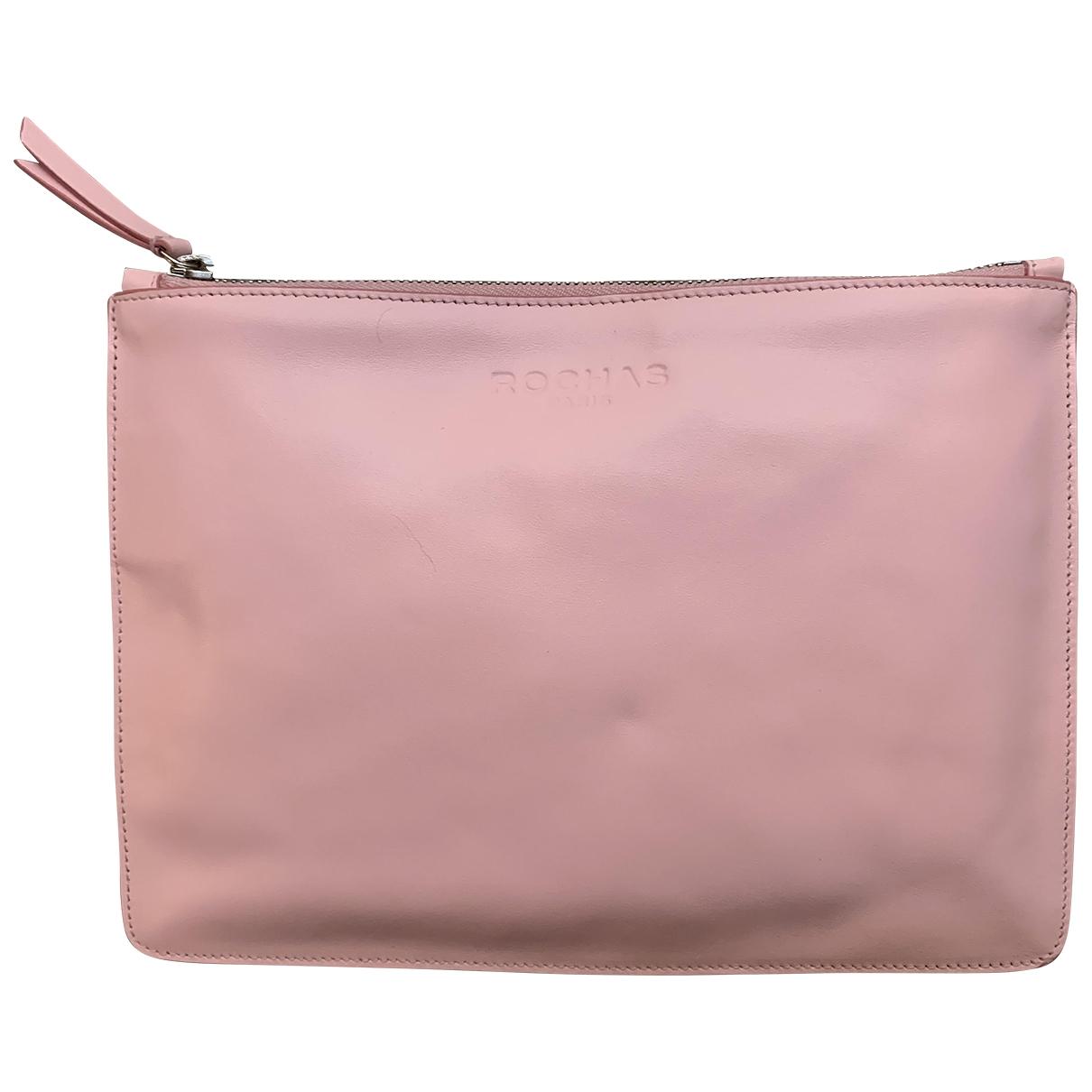 Rochas - Pochette   pour femme en cuir - rose