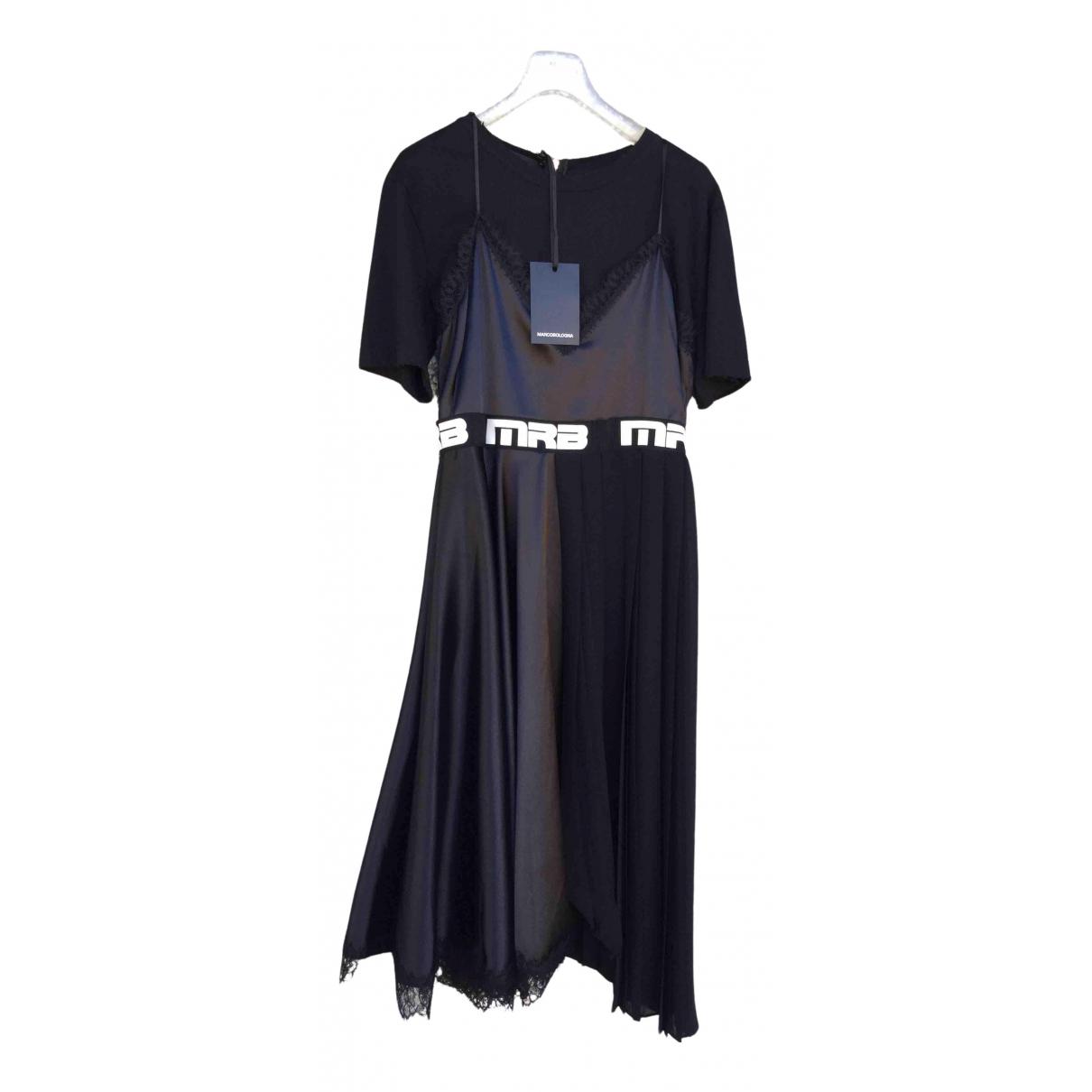 Marco Bologna - Robe   pour femme en coton - elasthane - noir