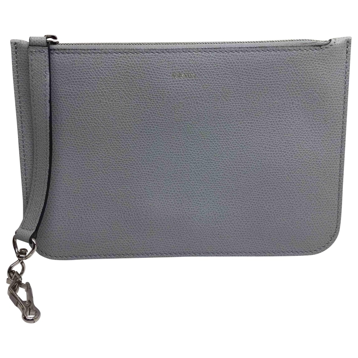 Valextra \N Grey Leather Clutch bag for Women \N