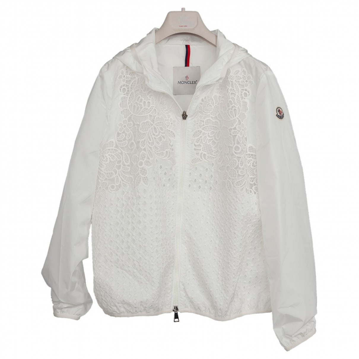Moncler \N Jacke in  Weiss Polyester