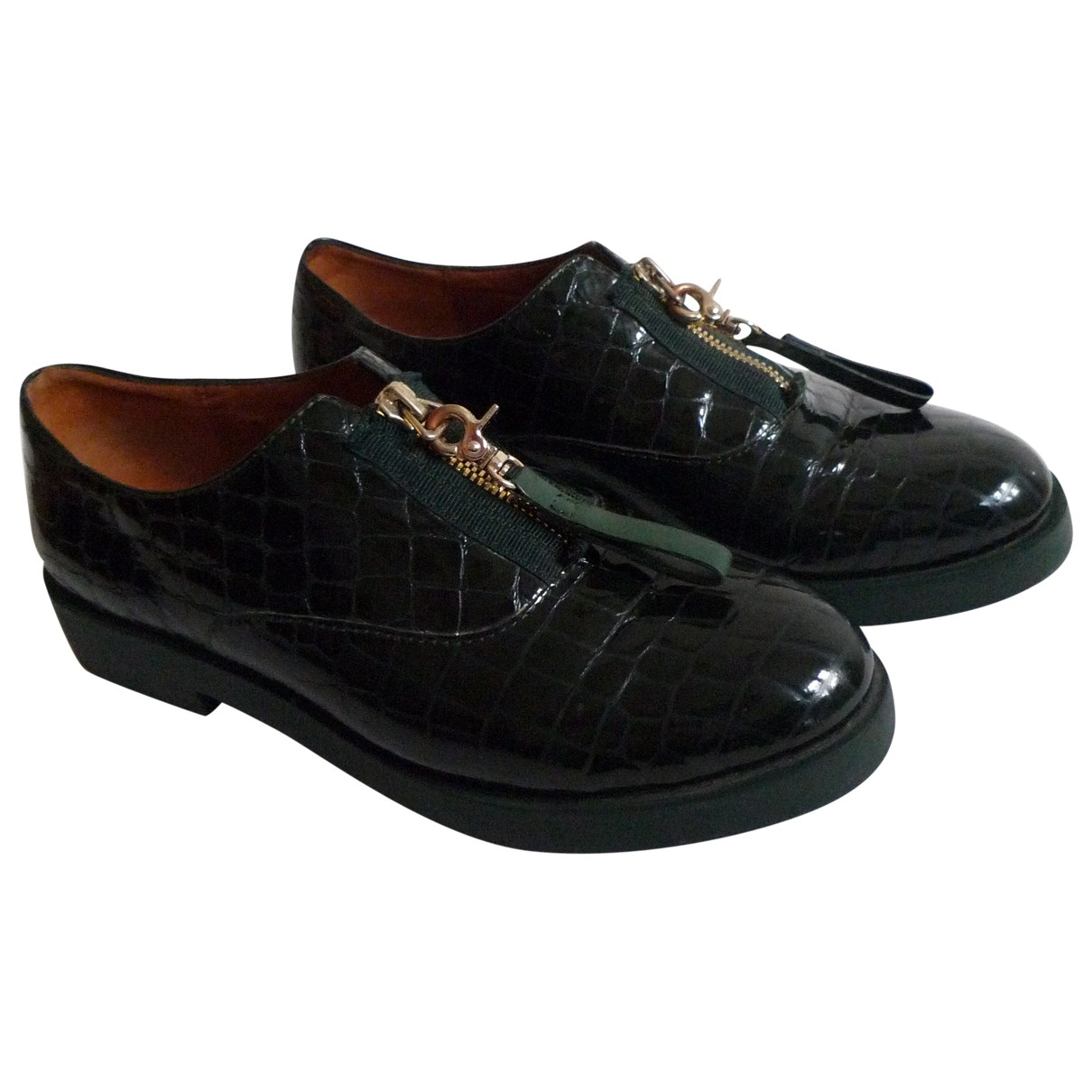 & Stories \N Green Patent leather Flats for Women 39 EU