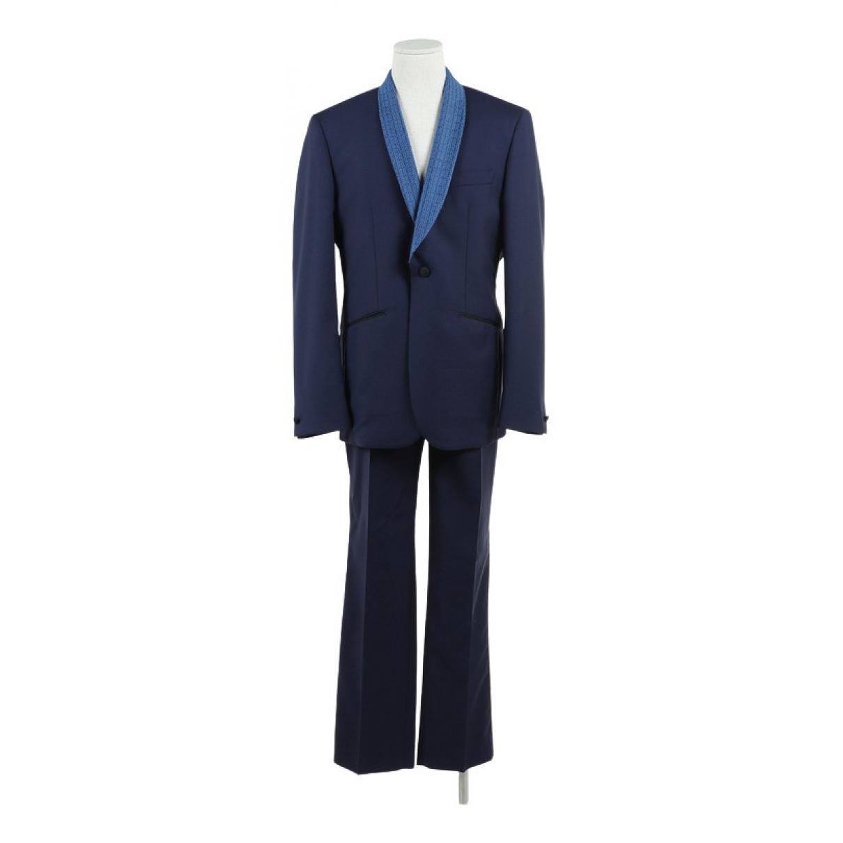 Hardy Amies - Costumes   pour homme en laine - marine