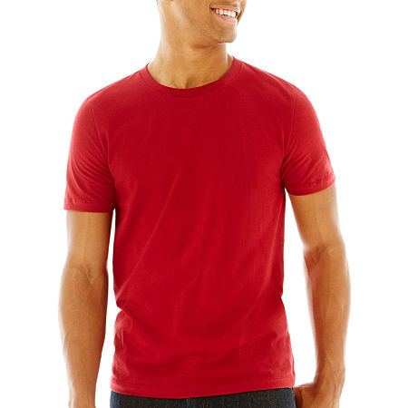 Arizona Super Soft Mens Crew Neck Short Sleeve T-Shirt, Xx-large , Red