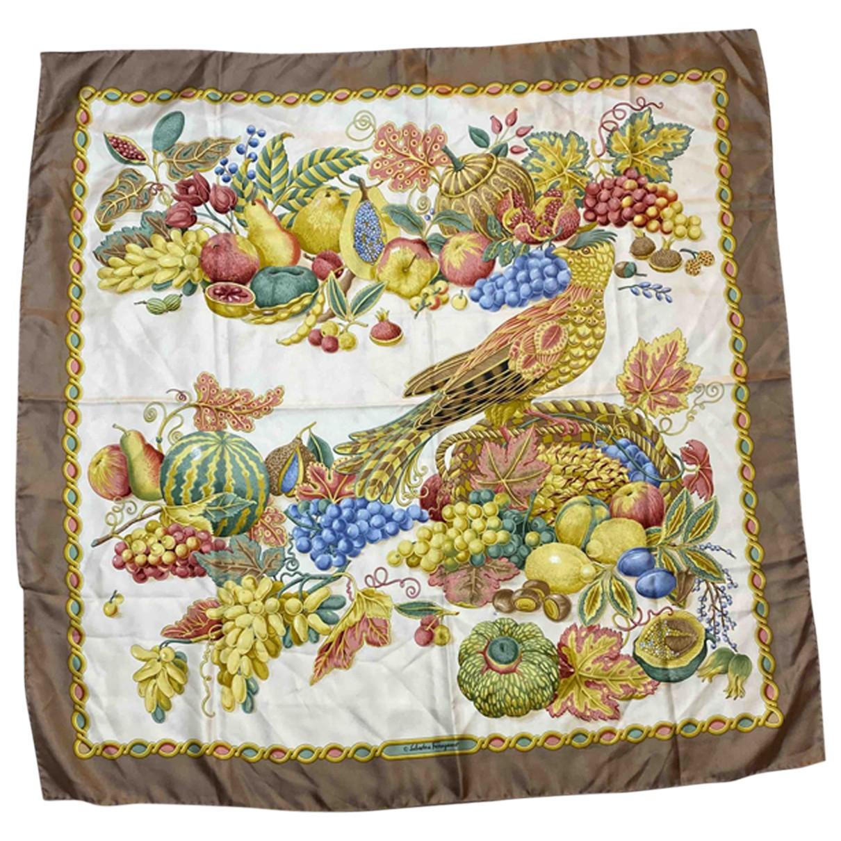 Salvatore Ferragamo - Foulard   pour femme en soie - multicolore
