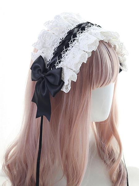 Milanoo Sweet Lolita Headdress LaceBows Lolita Headband