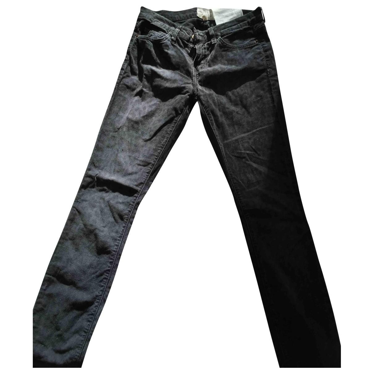 Current Elliott \N Grey Cotton Trousers for Women 34 FR