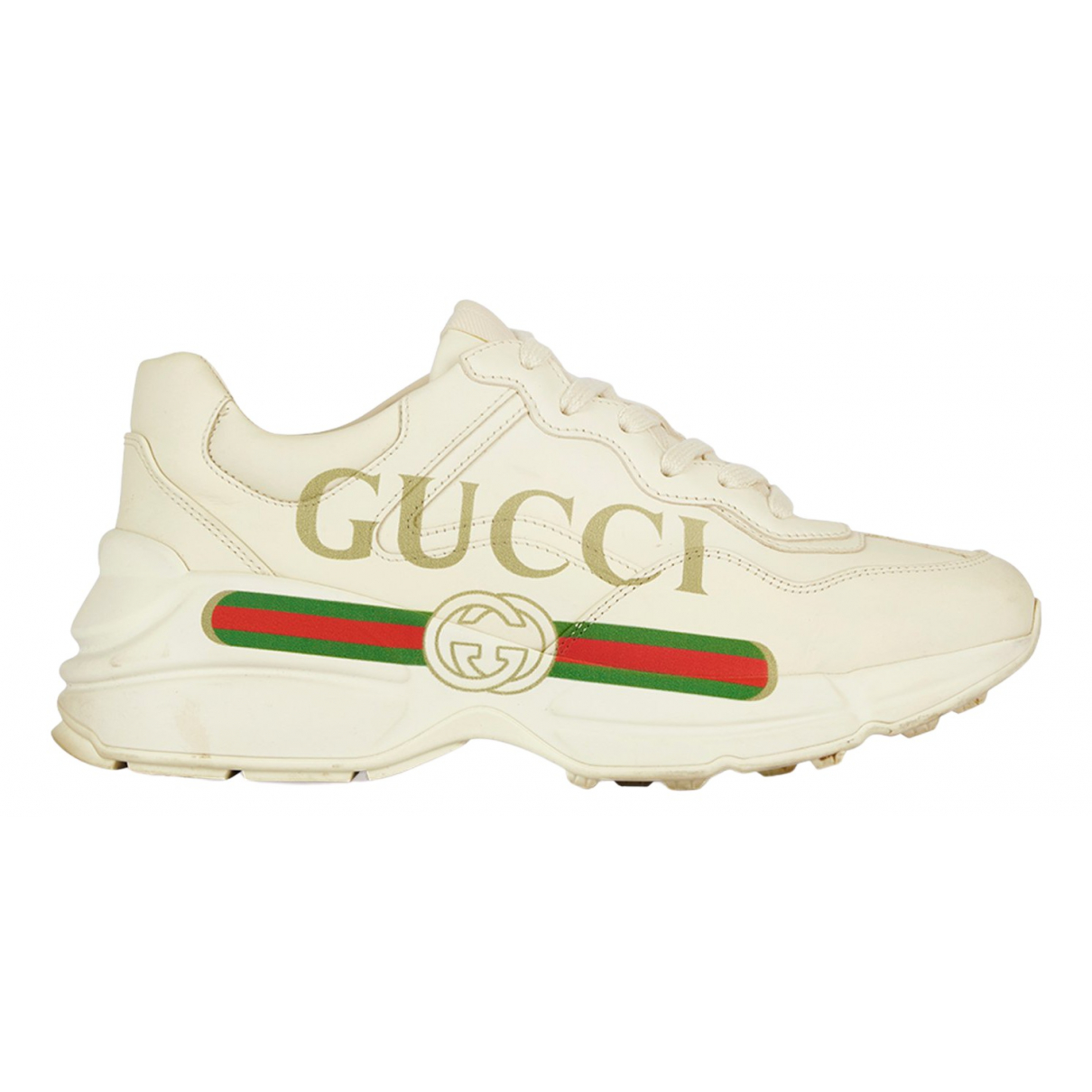 Gucci Rhyton Beige Leather Trainers for Women 5.5 UK