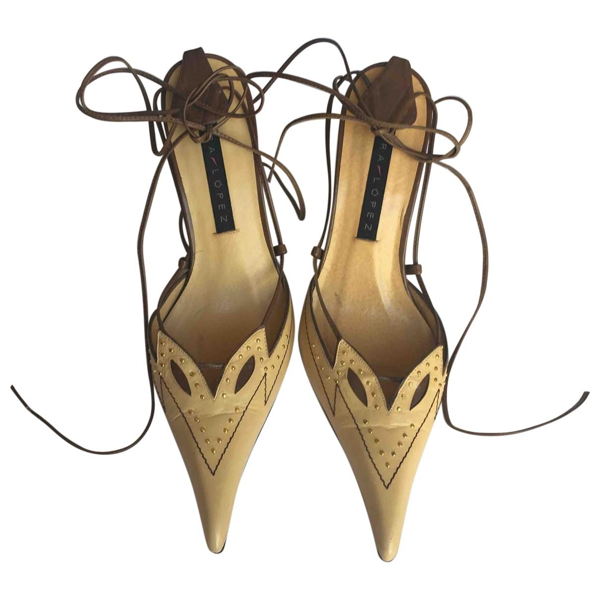 Pura Lopez - Escarpins   pour femme en cuir - camel