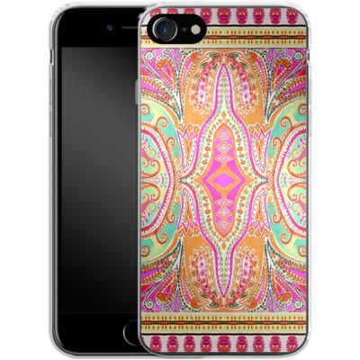 Apple iPhone 8 Silikon Handyhuelle - Paisley Pink von Amy Sia