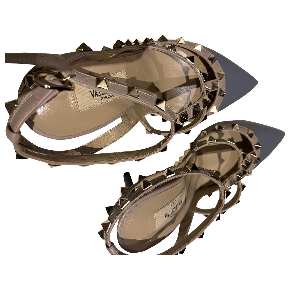 Valentino Garavani Rockstud Multicolour Leather Heels for Women 37.5 EU