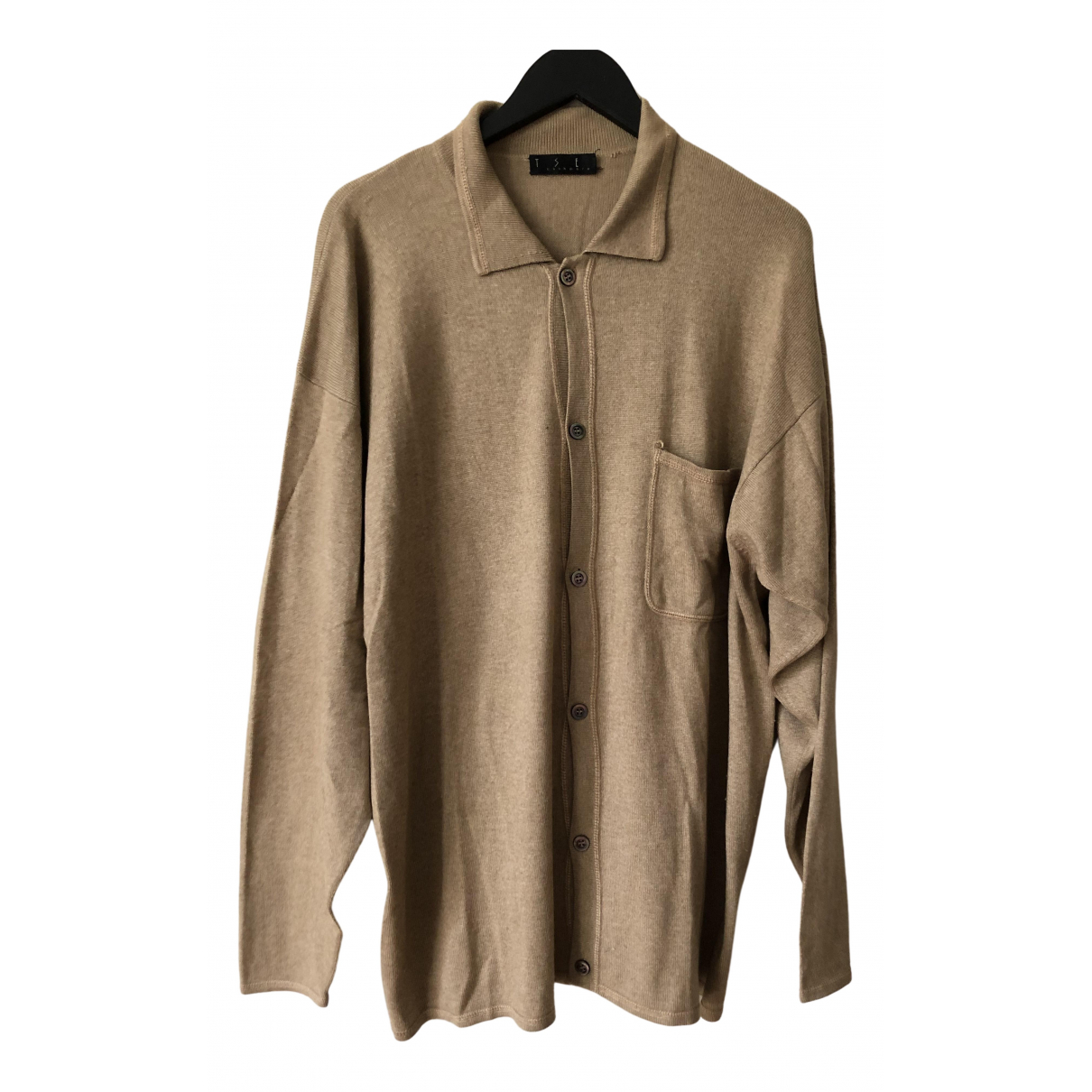 Non Signe / Unsigned \N Pullover.Westen.Sweatshirts  in  Kamel Seide