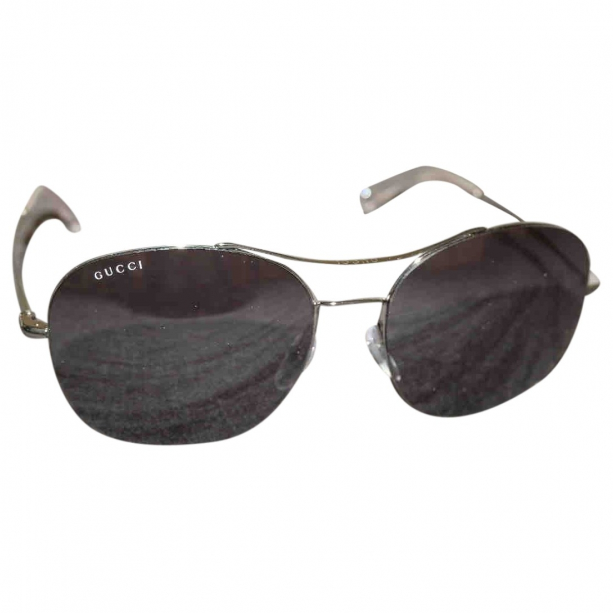 Gucci \N Black Metal Sunglasses for Men \N