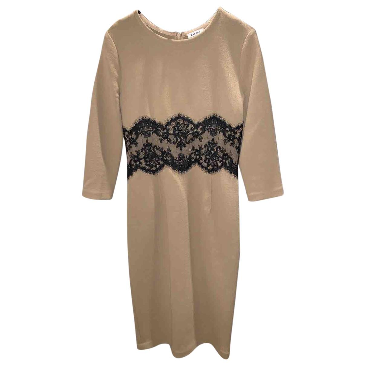 Parosh \N Kleid in  Beige Wolle