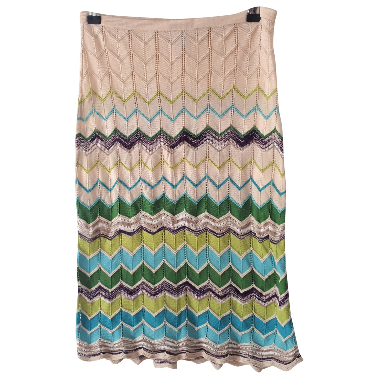 M Missoni \N Beige Cotton skirt for Women 42 IT