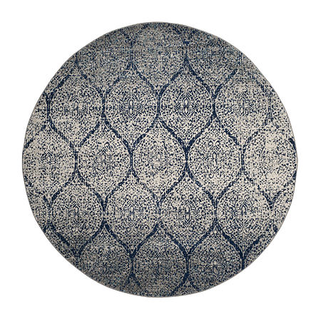 Safavieh Madison Collection Carmen Geometric Round Area Rug, One Size , Multiple Colors
