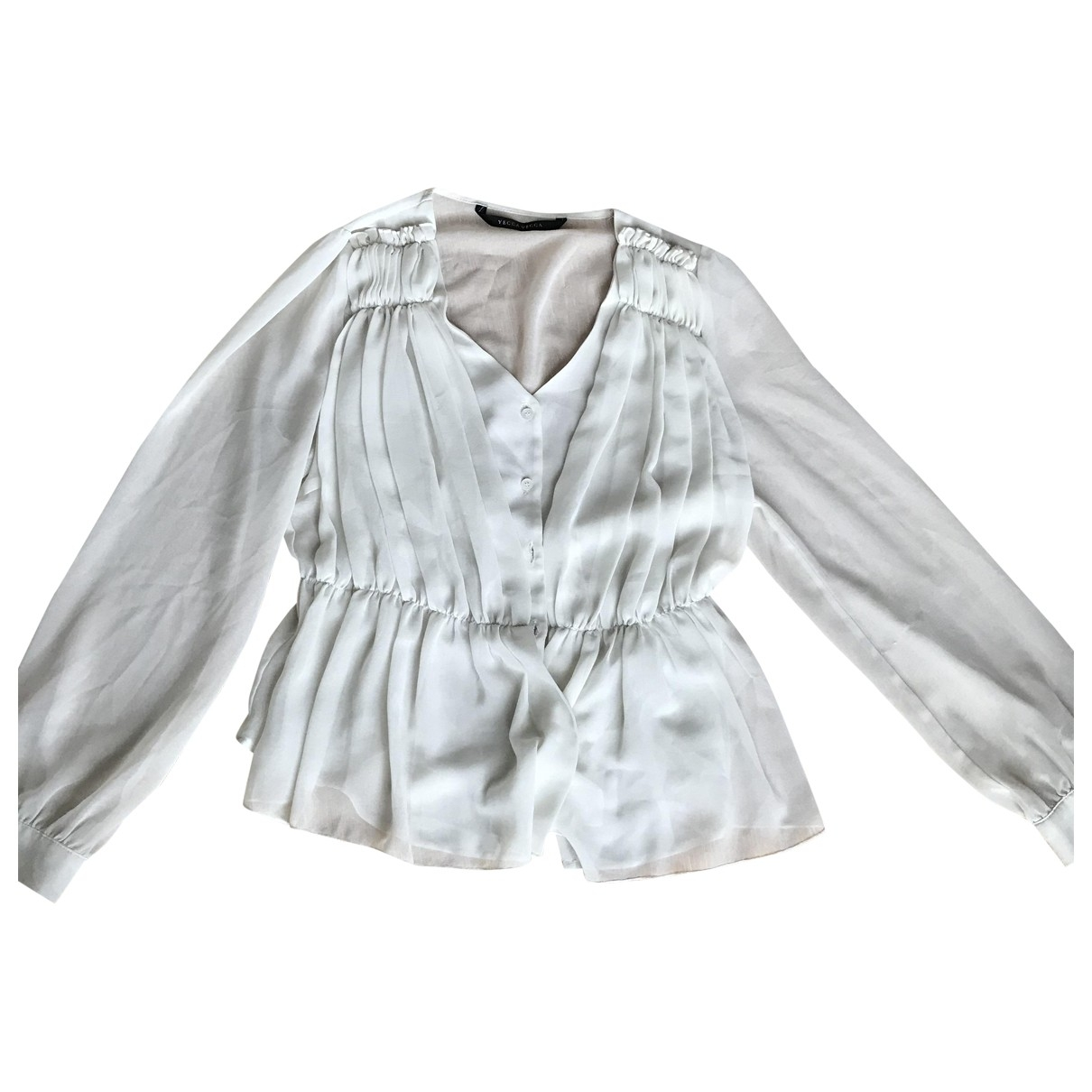 Non Signe / Unsigned \N Top in  Weiss Polyester