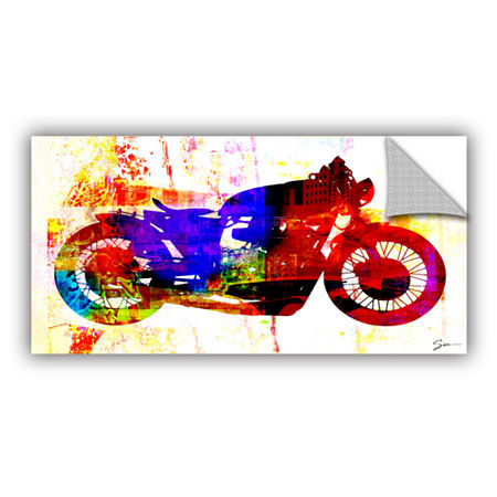 Brushstone Moto III Removable Wall Decal, One Size , White