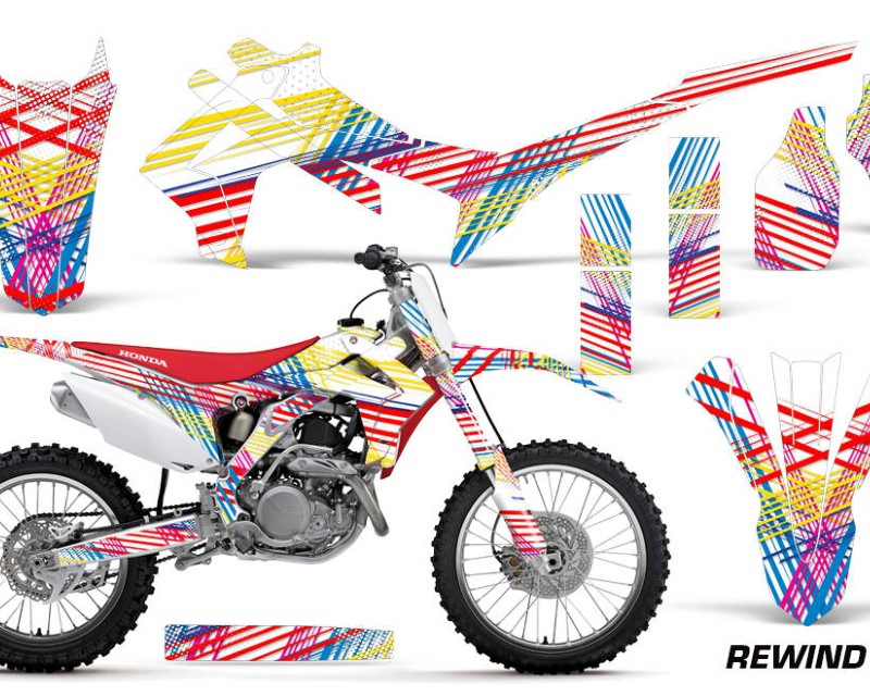 AMR Racing Dirt Bike Graphics Kit Decal Sticker Wrap For Honda CRF250R 2014-2017áREWIND