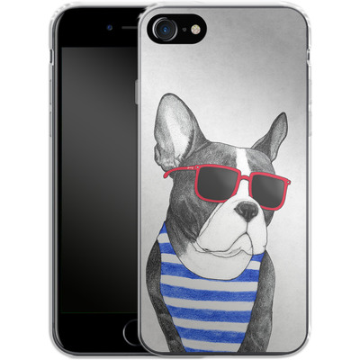 Apple iPhone 8 Silikon Handyhuelle - Frenchie Summer Style von Barruf