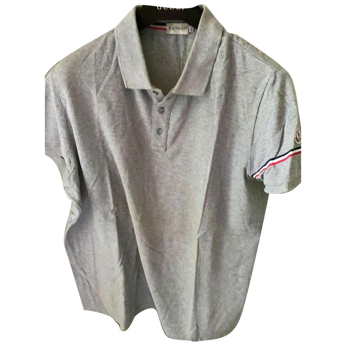 Moncler - Polos   pour homme en coton - gris
