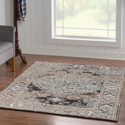 RUGVT1981 8 x 10 Rectangle Area Rug in