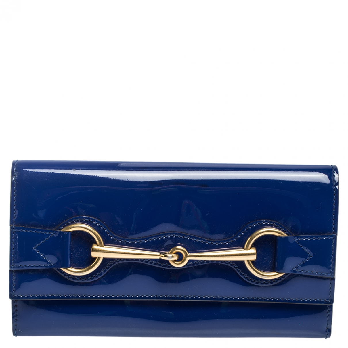 Gucci Continental Blue Patent leather wallet for Women \N