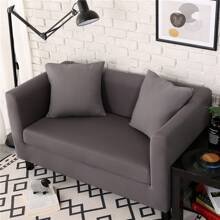 Solid Cover Stretchy Sofa Cover Without Cushion